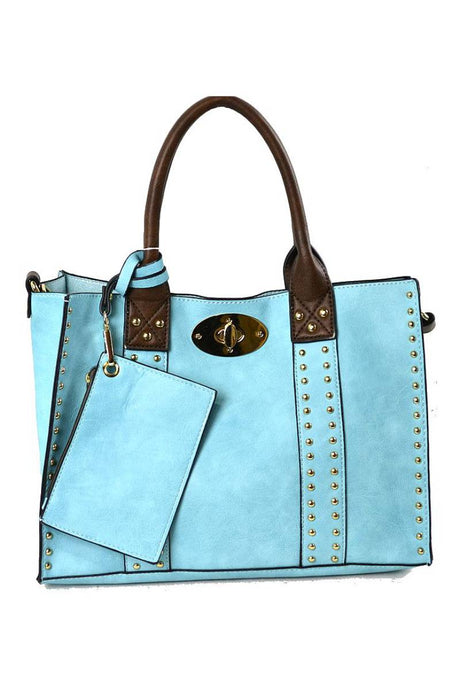 Chris Bag LIGHT BLUE/COFFEE