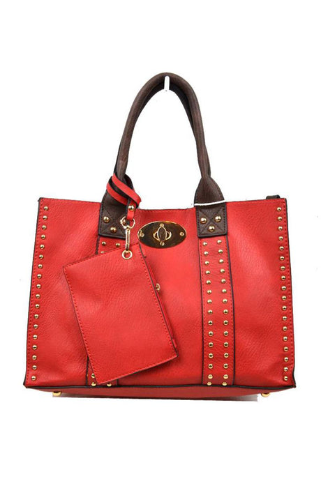 Chris Bag RED/COFFEE