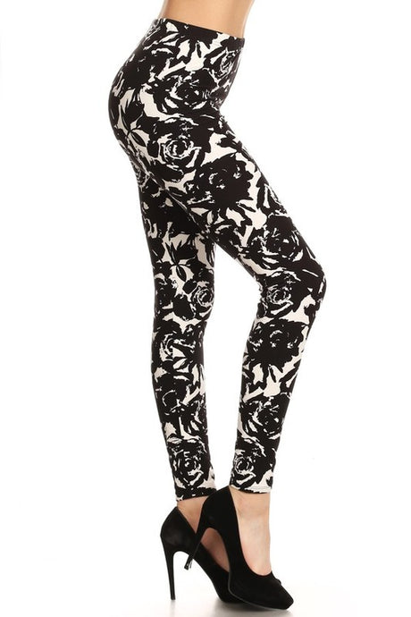 Rose And Crown Leggings OS