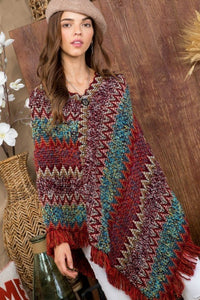Not Your 70's Poncho O/S