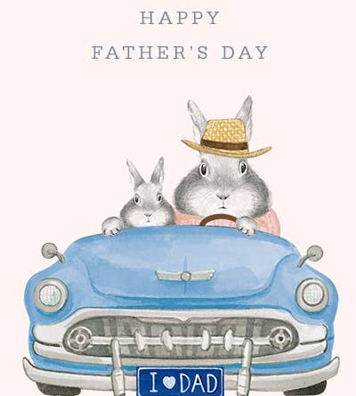 Dad Bunny Convertible Card