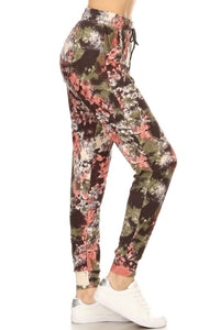 Color Splash Green Joggers