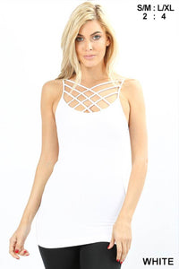 Criss-Cross Cami White