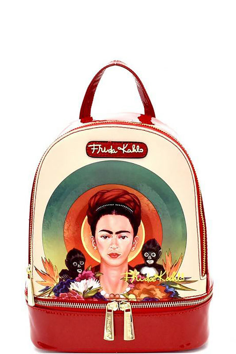 Frida Kahlo Backpack Red
