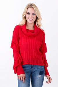 Ruffalo Top Red
