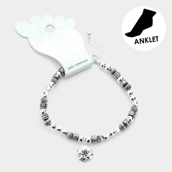 Sand Dollar Ball Anklet