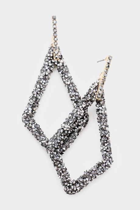 Diamond Shape Sparkler Hematite