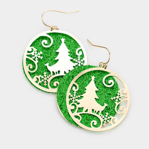 Christmas Scene Inlay Green