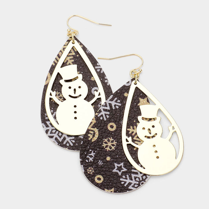 Christmas Snowman Earring