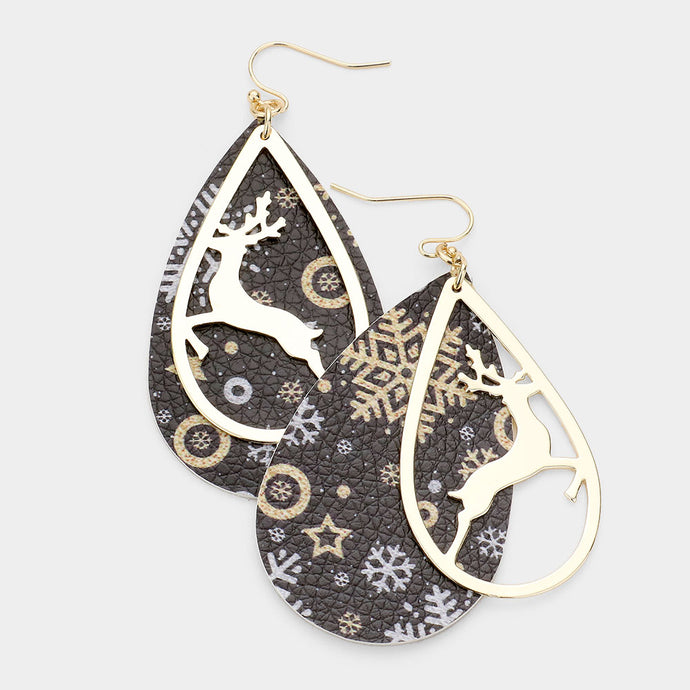 Christmas Deer Earring