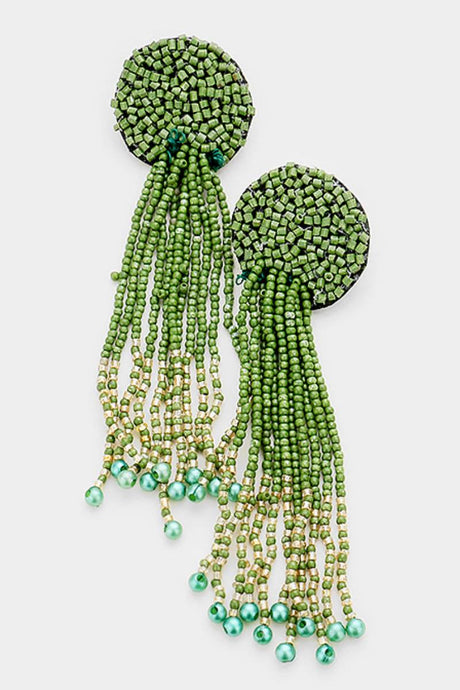 Tenticles Green Earrings