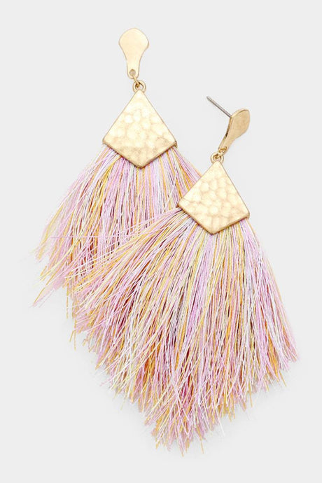 Cotton Candy Feather Earrings