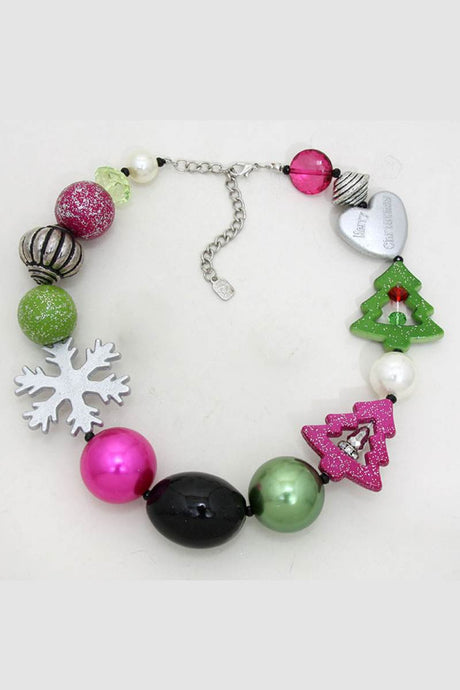 Whimsical Xmas Neck Pink