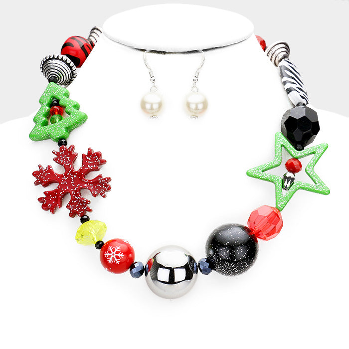 Whimsical Xmas Neck Red