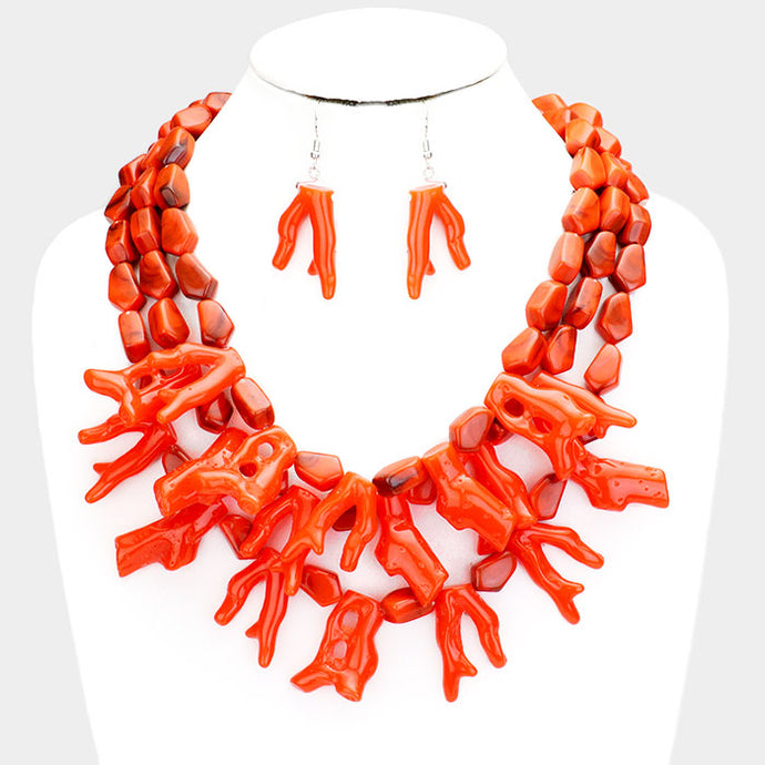 Earthy Coral Necklace