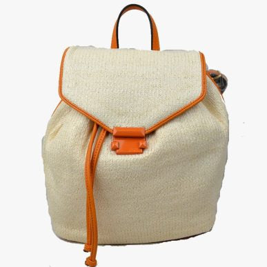 Aveline Straw Backpack Cognac