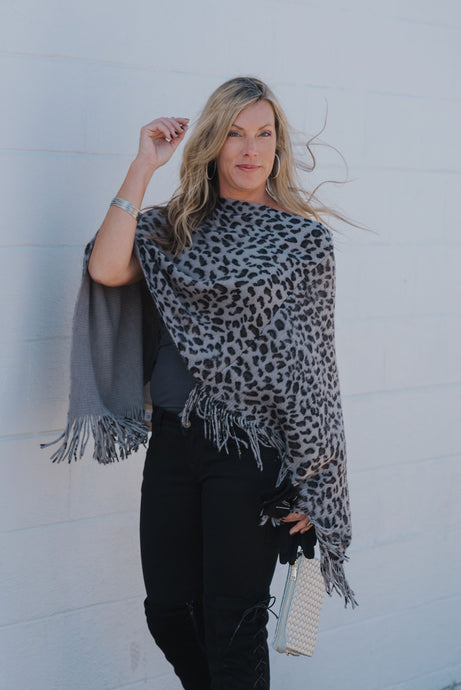 Night Leopard Poncho