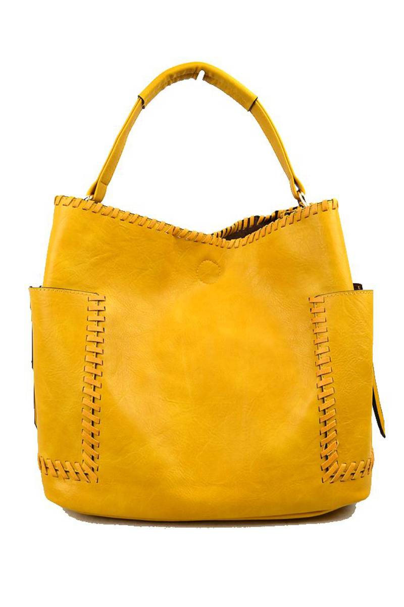 Whipstitch Tote Yellow