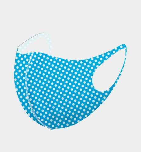 Blue Polka Dot Mask