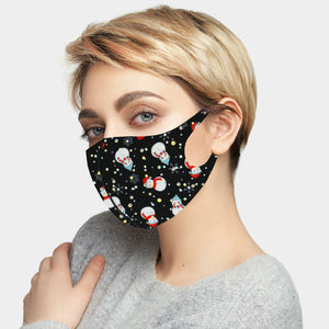 Sparkly Snowman Mask Black