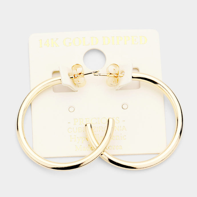 14k Gold Dipped Hoops 1.2