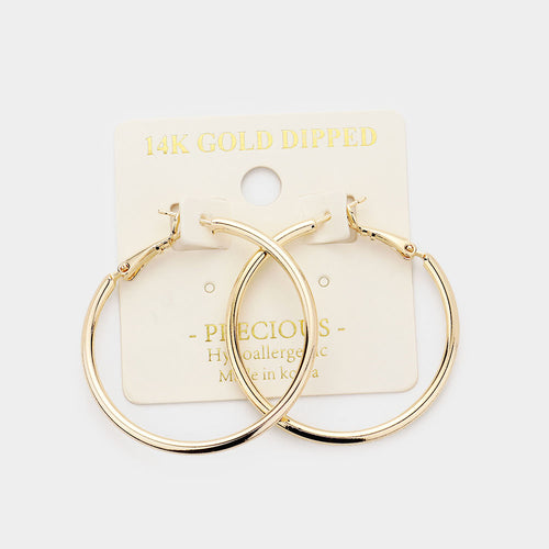 1.5 Gold Hoops