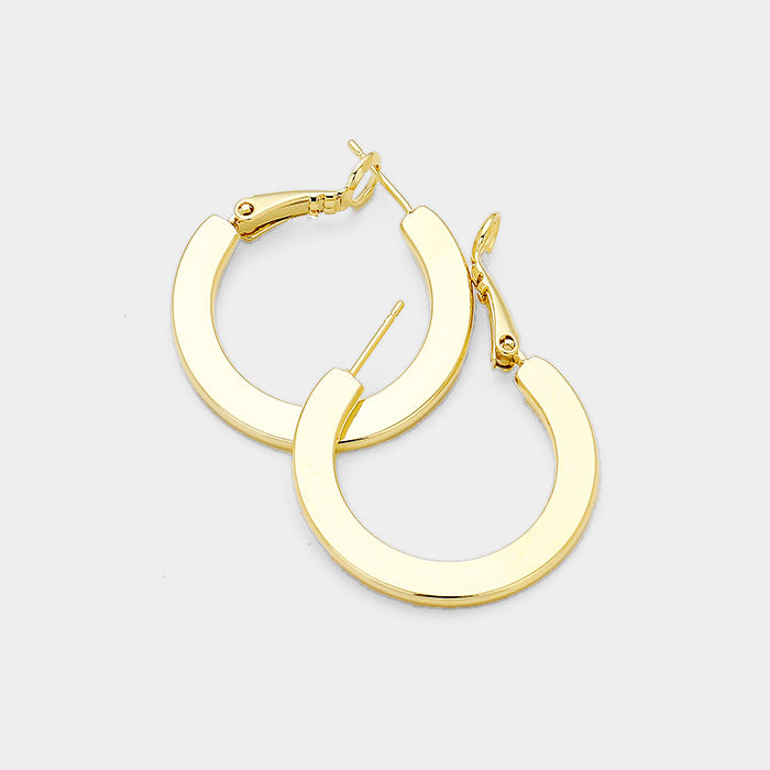 14K Gold Dipped Hoops Small