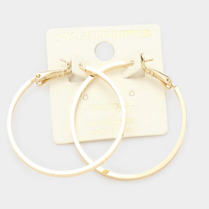 14K Gold Dipped 1.5 Hoops