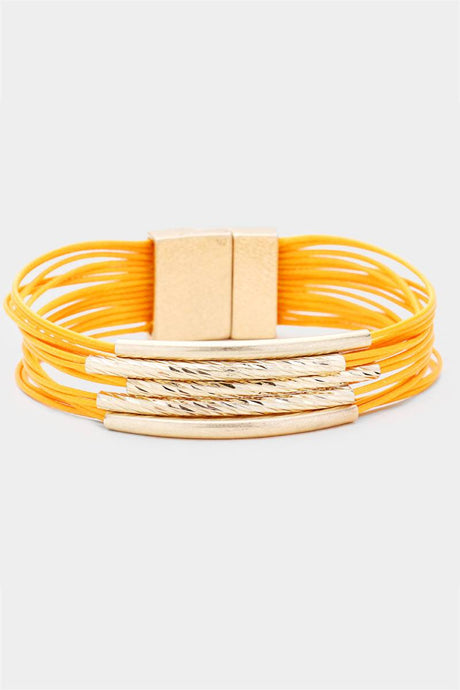 Twisted Noodles Bracelet Yellow