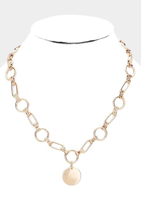 Circle Of Chain Necklace Gold