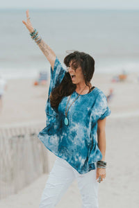Tie Die For Top Blue ONE SIZE