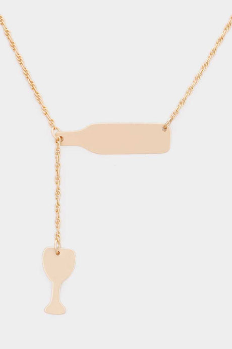 Wine Lovers Necklace Gold