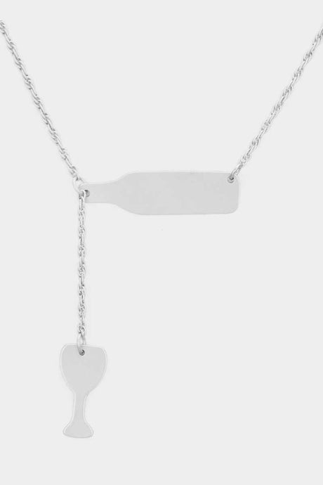 Wine Lovers Necklace Silver
