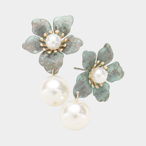 Patina Flowers & Pearls