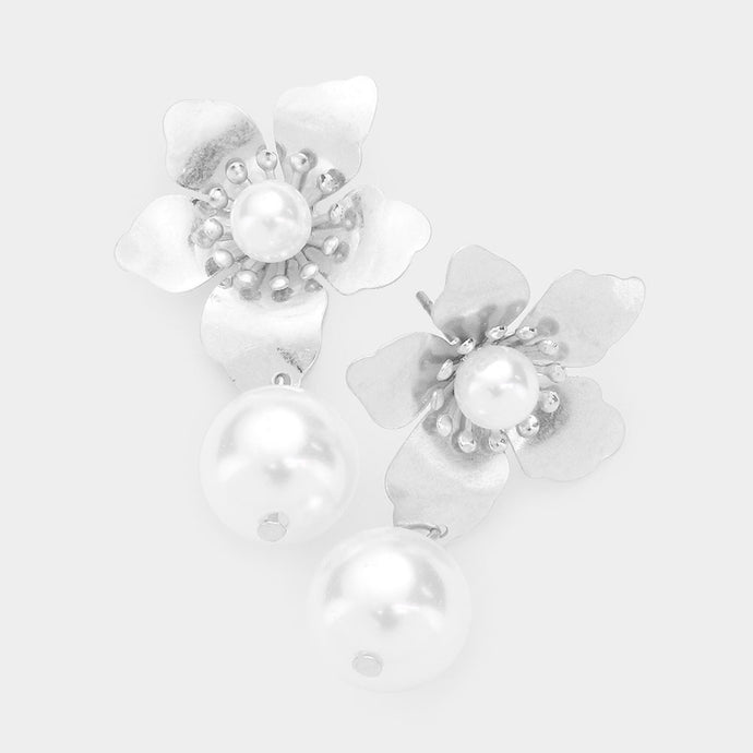 Silver Flowers &  Pearls