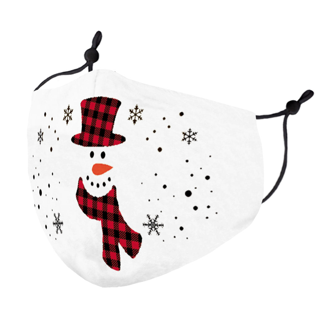 Buffalo Plaid Frosty Mask