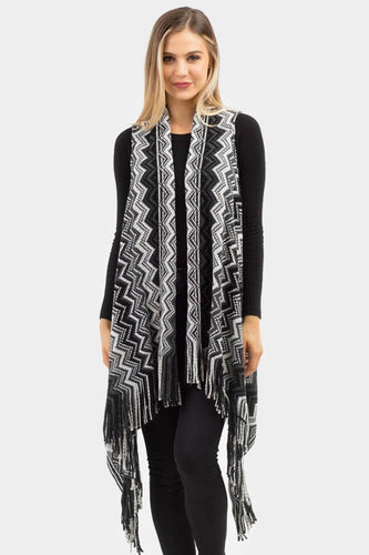 Chevron Vest Black