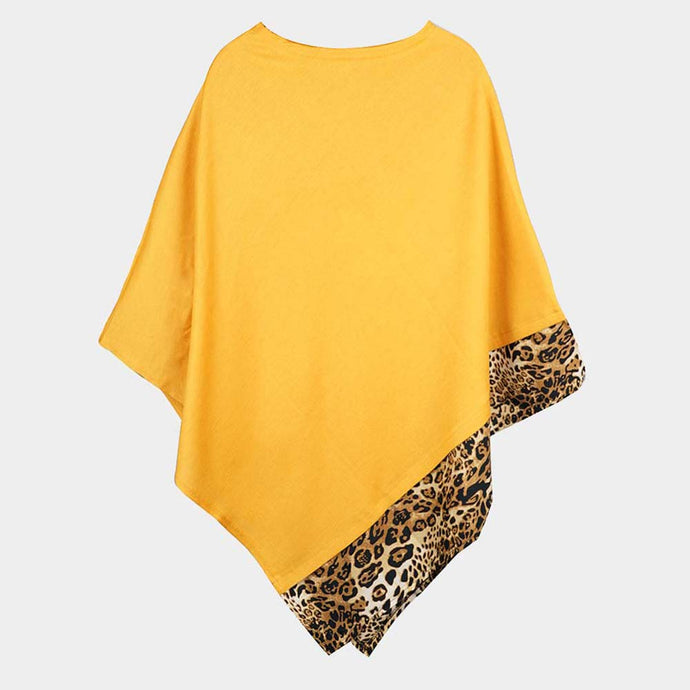 Time Place Occasion Poncho Mustard