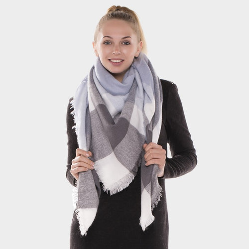 Dreamy Creamy Blanket Scarf Grey