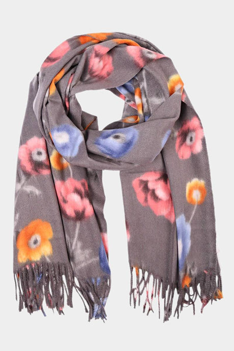 Welcome Fall Scarf Grey