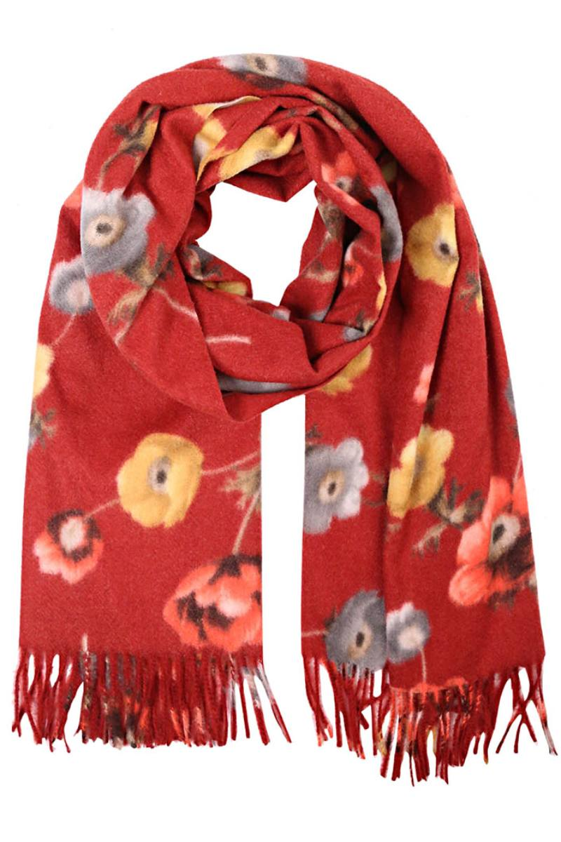 Welcome Fall Scarf Red