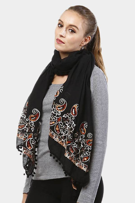 Parsley Scarf Black