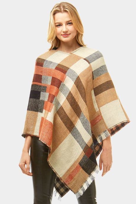 Fall On Me Poncho Beige