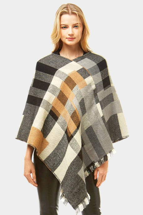 Fall On Me Poncho Black