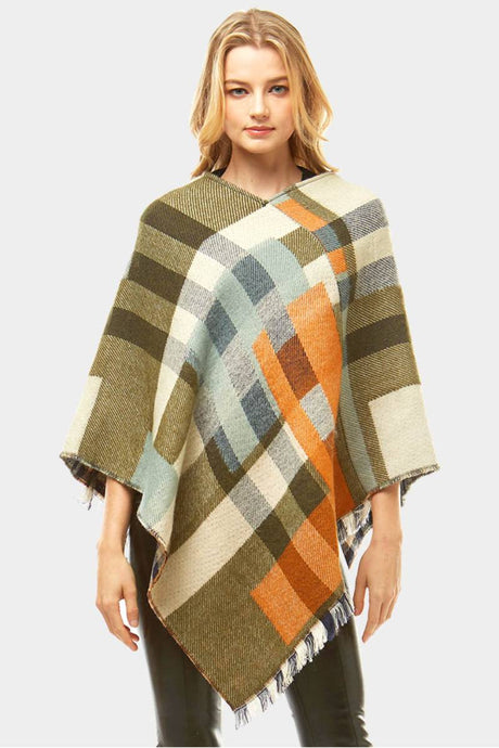 Fall On Me Poncho Olive