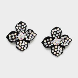 Sparkly Flowers Black