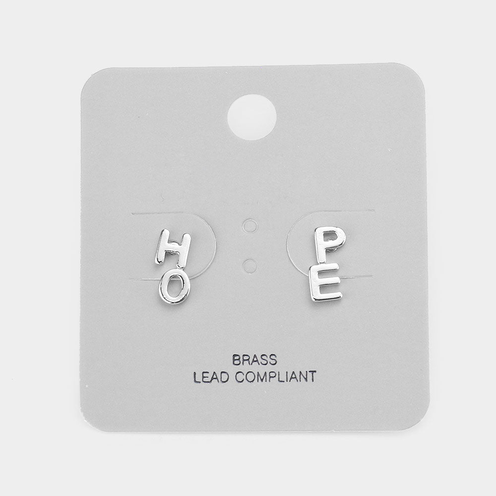 Hope Studs Silver