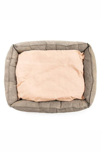 WASHED CANVAS DOG BED