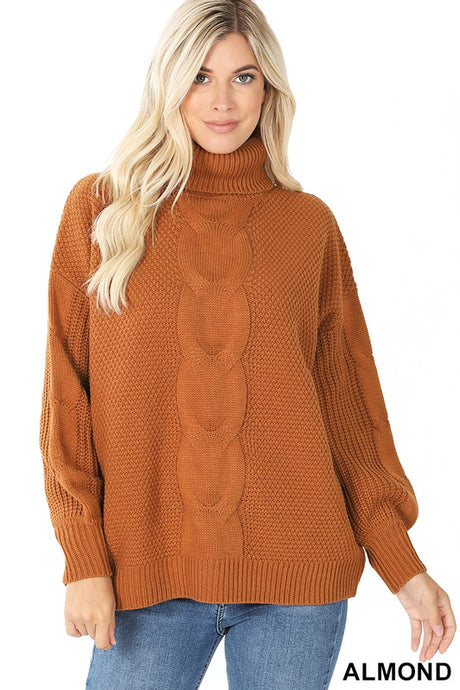 Cozy Almond Cable Knit