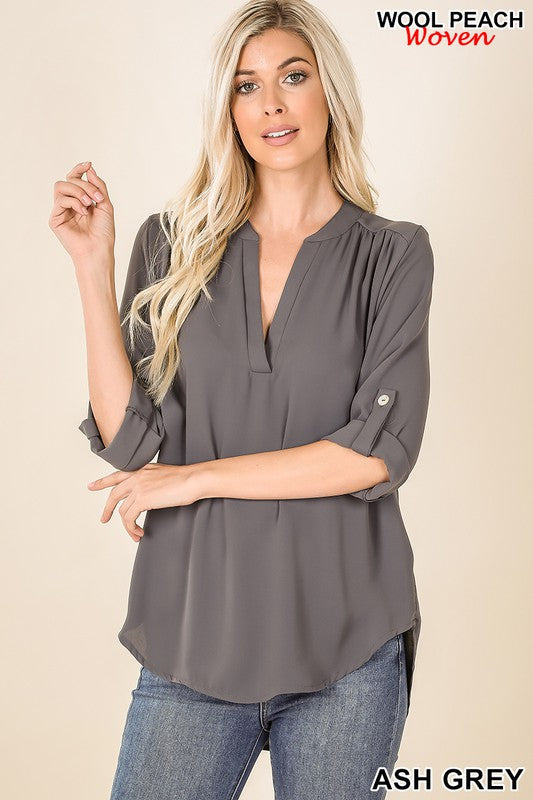 Angie's Fav Top Ash Grey